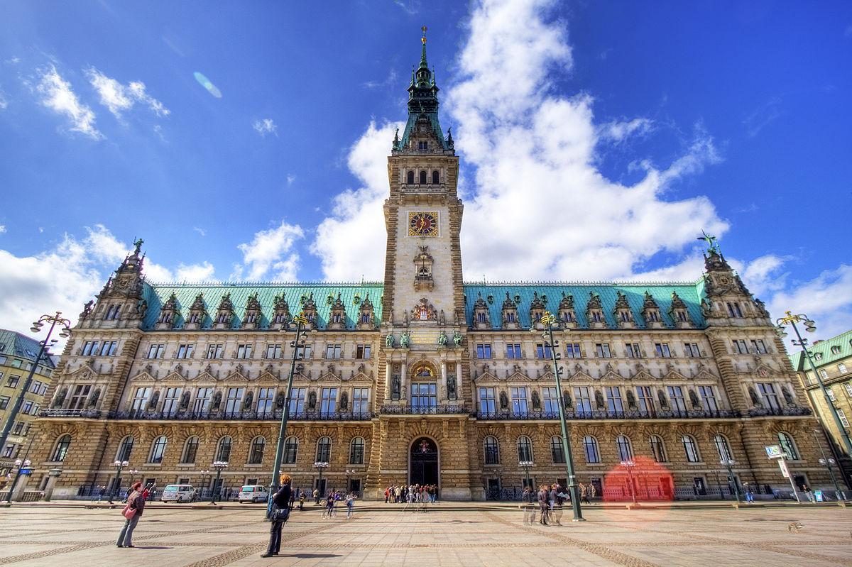 Обои улица, германия, здания, гамбург, красота, Облака. Города foto 6