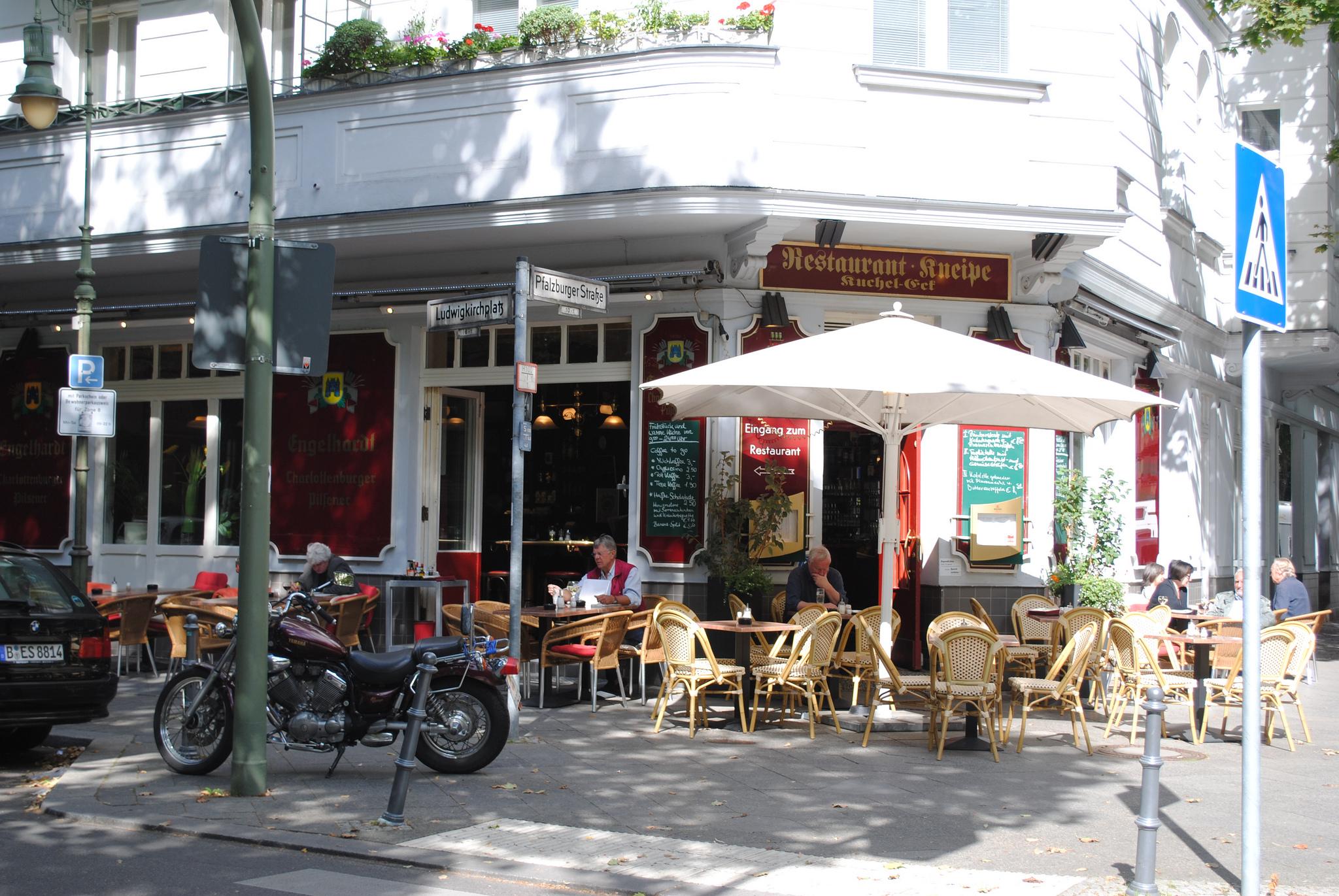 Уличное кафе в Вильмельсдорфе